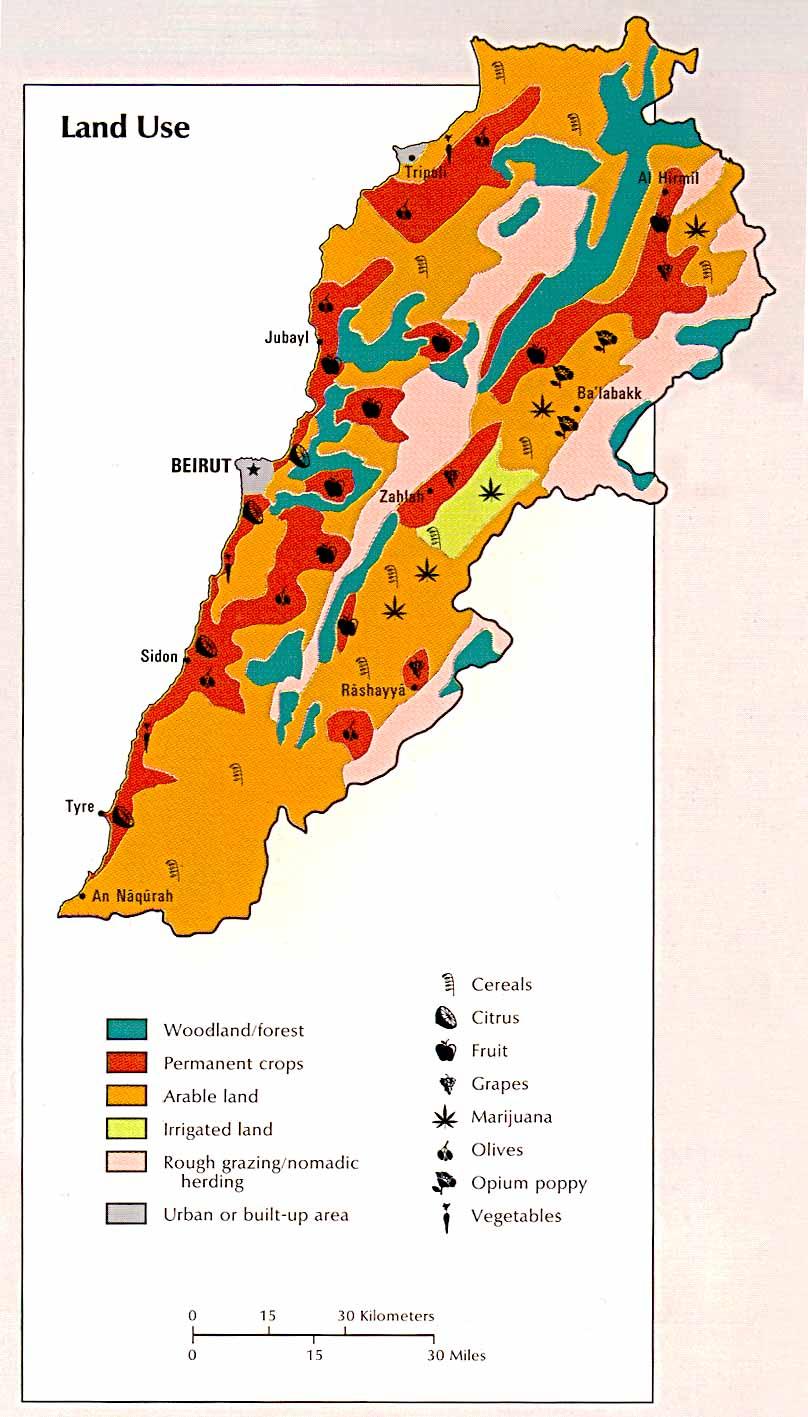 the-lebanon com / Lebanon : Map of Lebanon